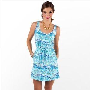 Lilly Pulitzer Kori Resort high tide dress cotton